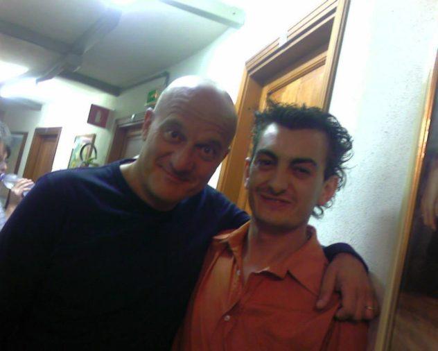con Claudio Bisio